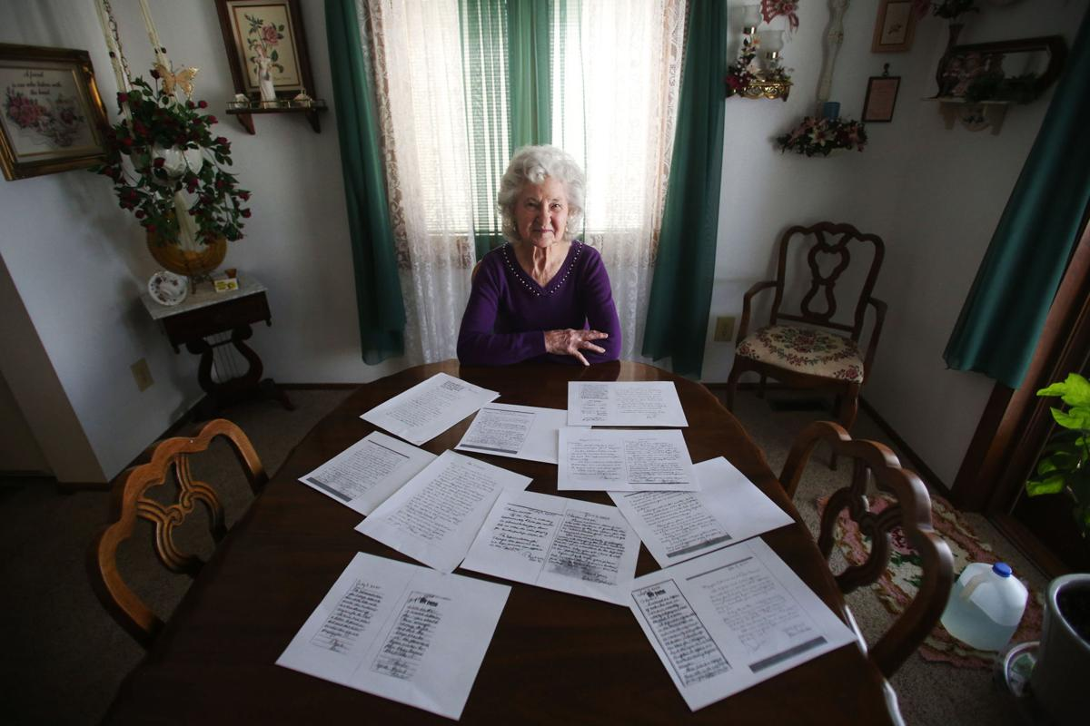 Women sitting with articles on table