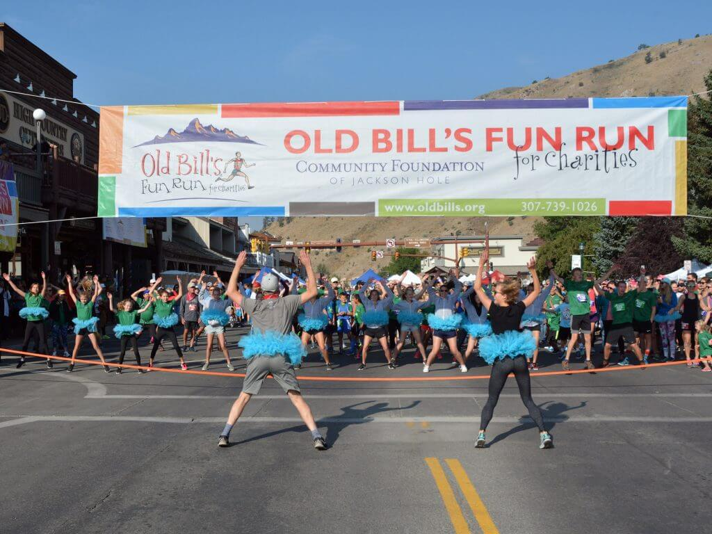 Old Bill's Fun Run start line