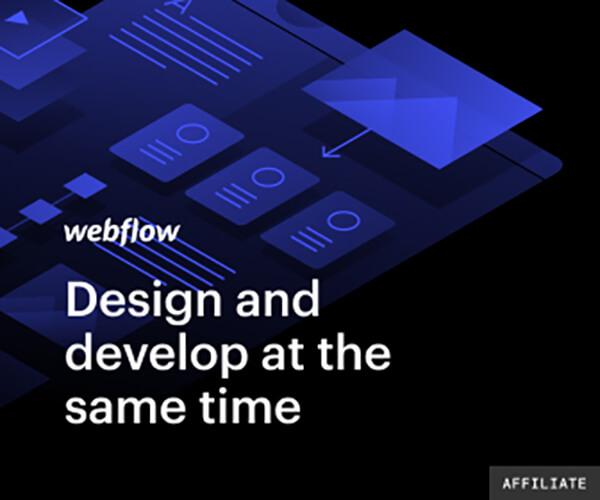 Webflow illustration graphic showing different website elements