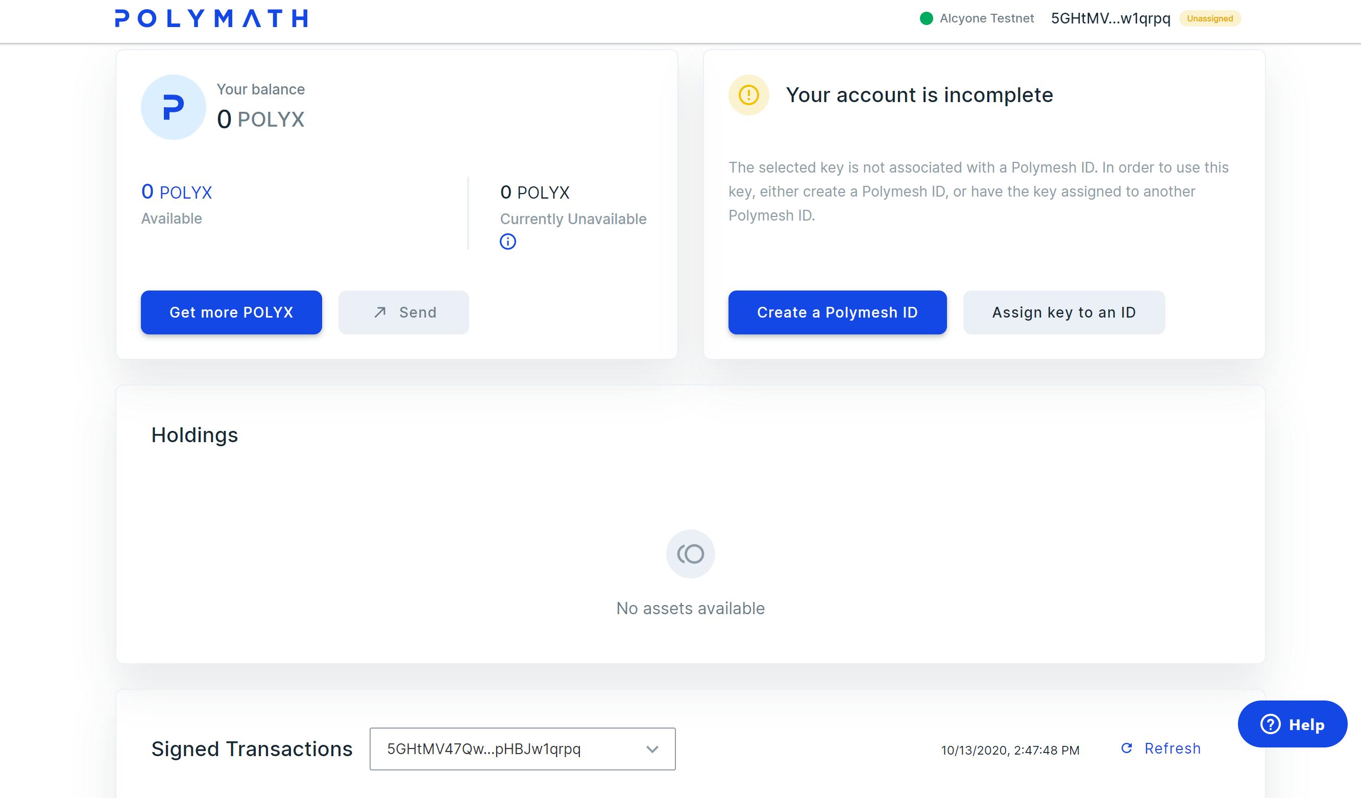 create a primary key UI