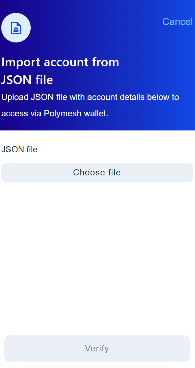 choose a JSON file