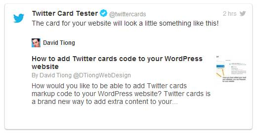 how to Twitter Card setup
