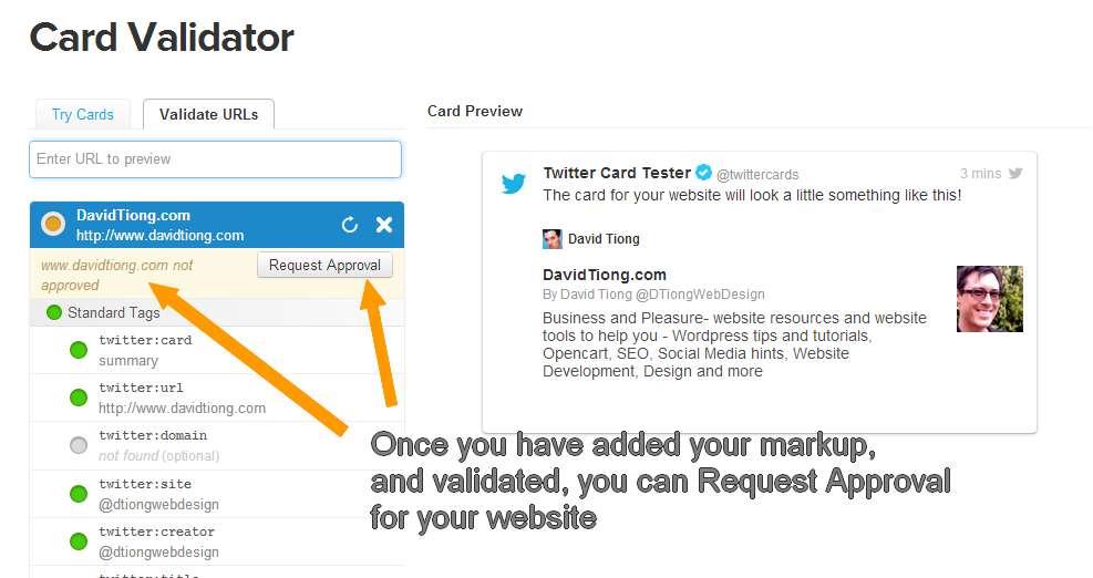 Add Twitter Cards to Wordpress website