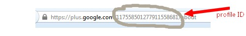 google plus profile id