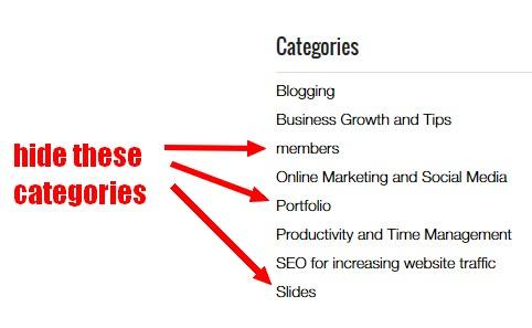 hide-blog-categories