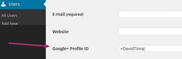 WordPress user profile settings page