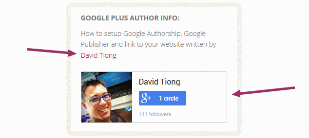 Google Plus Authorship snippet