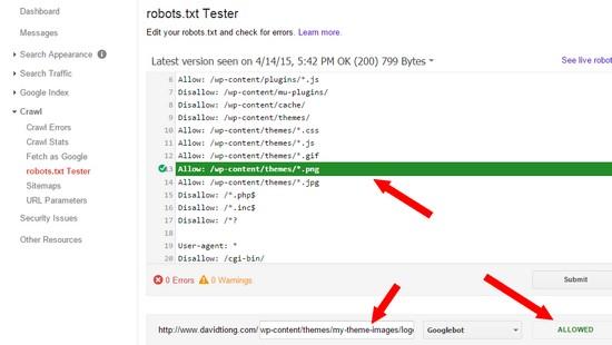 check Googlebot not blocked