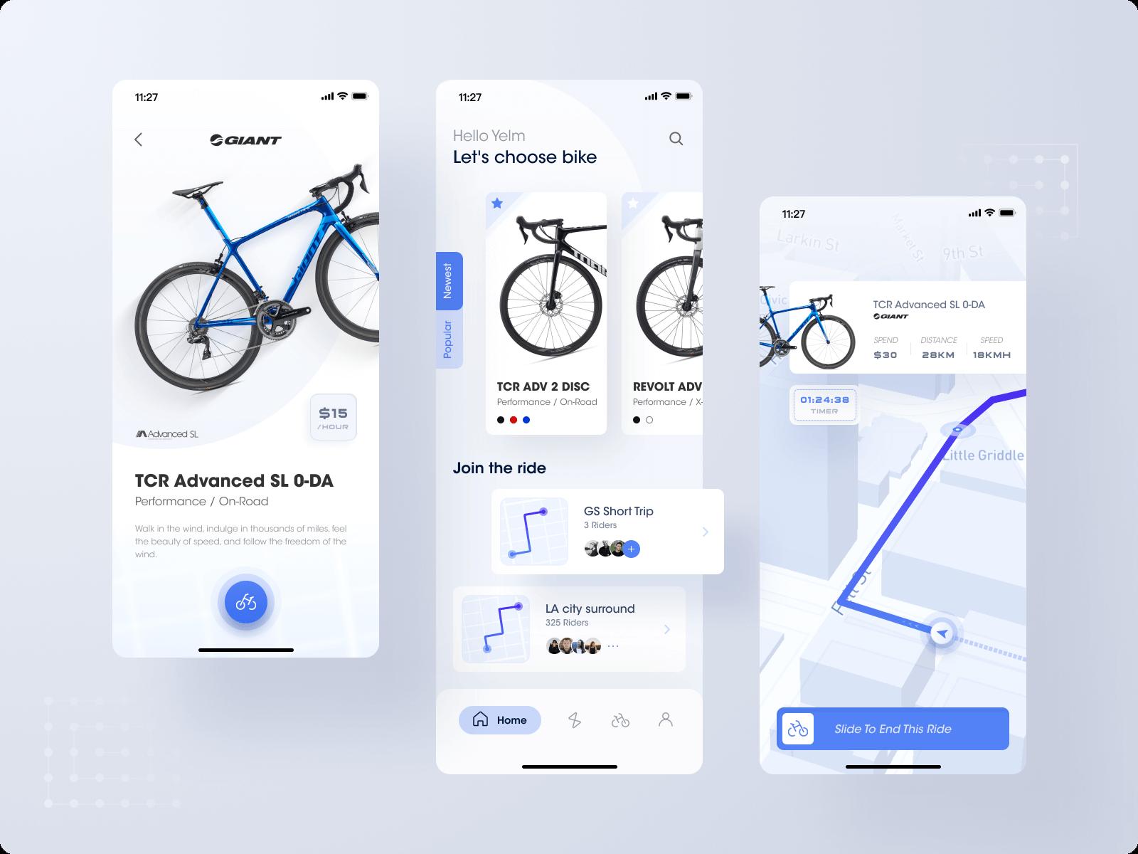 App design for a bike rental system
