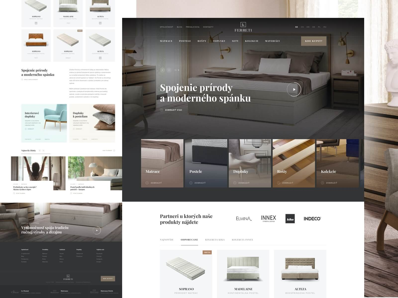 Design for a homepage of a interior design company