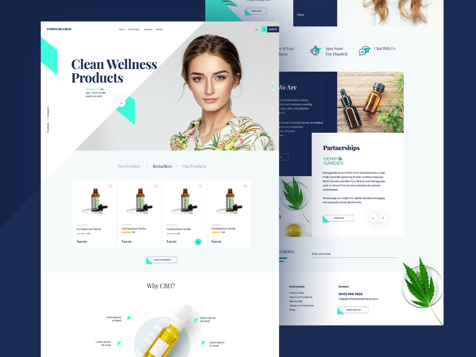 Website design for a CBD Oil products