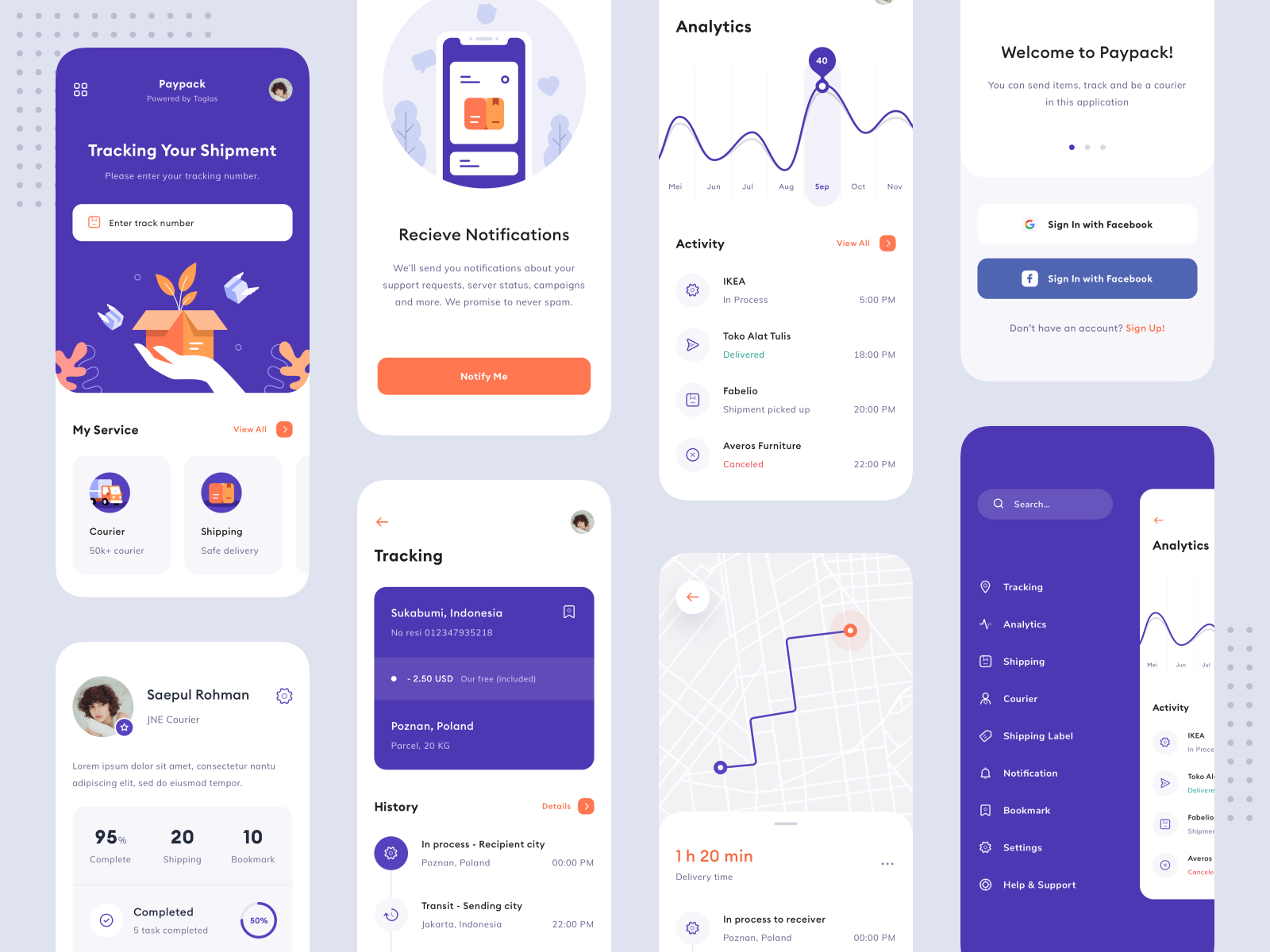 Design for a delivery app on iPhone