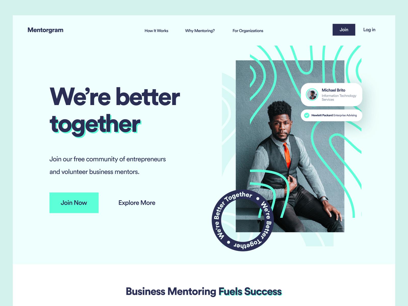 Website design for Mentorgram