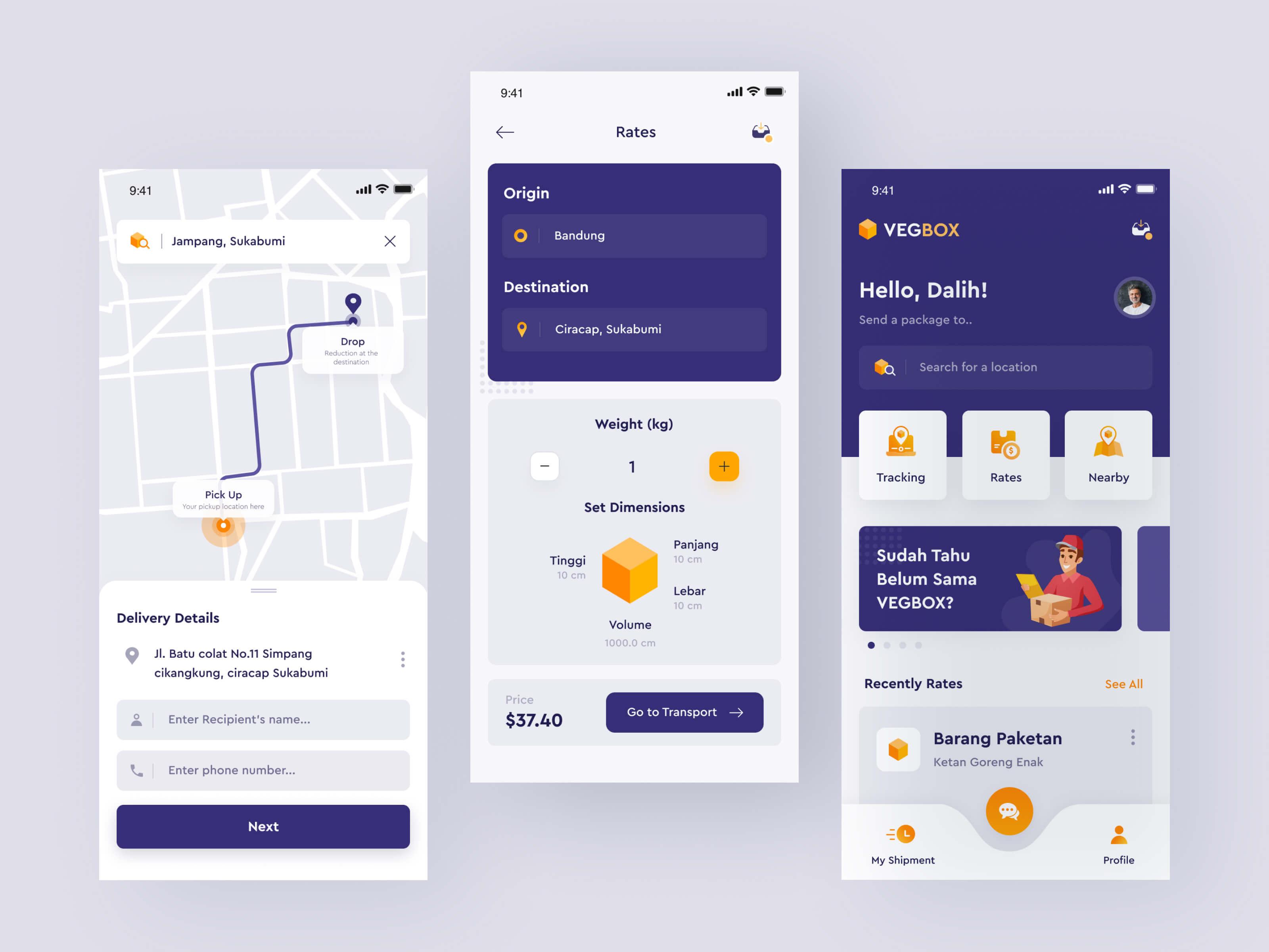App design for VegBox for iPhone