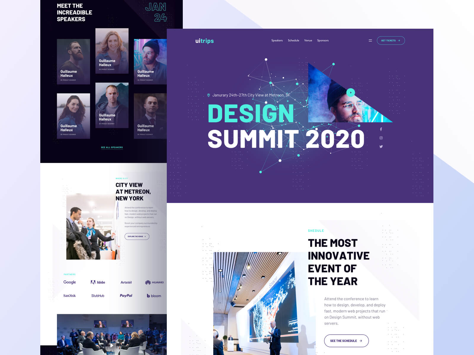 Landing page for a Design Summit 2020 event