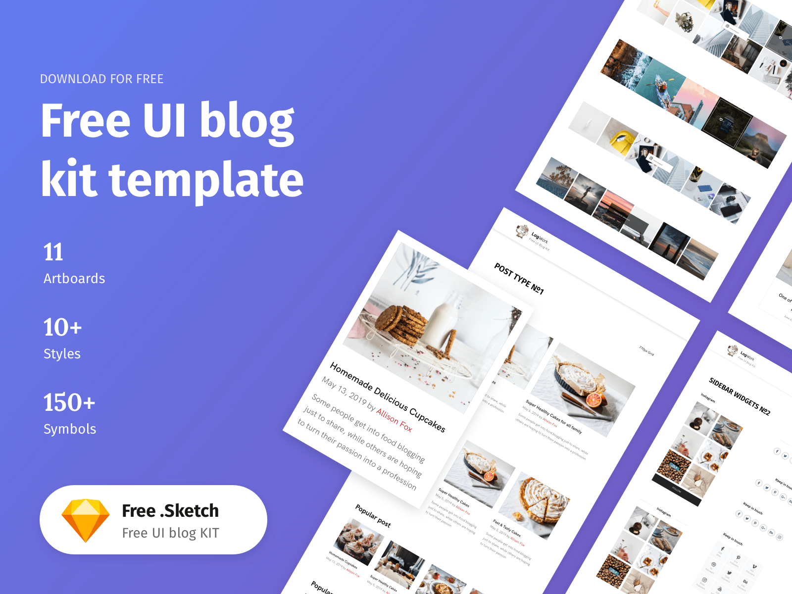 Thumbnail graphic for a blog UI Kit