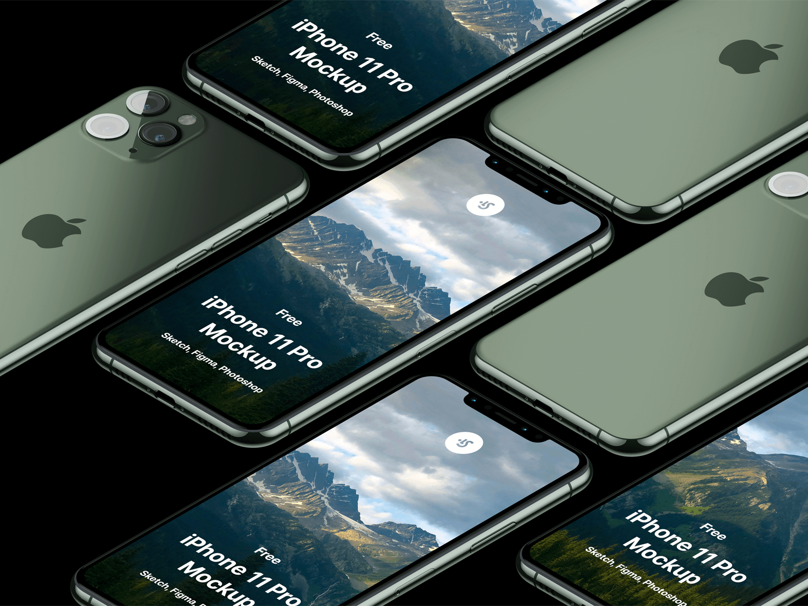 Midnight green iPhone 11 Pros