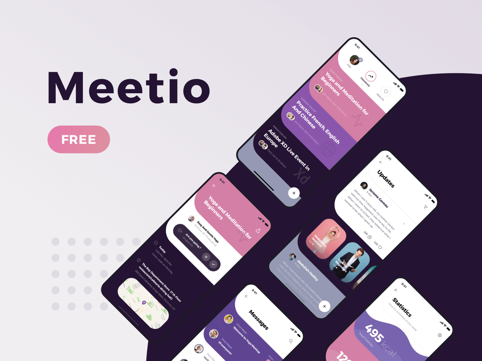 App screens for a new UI Kit