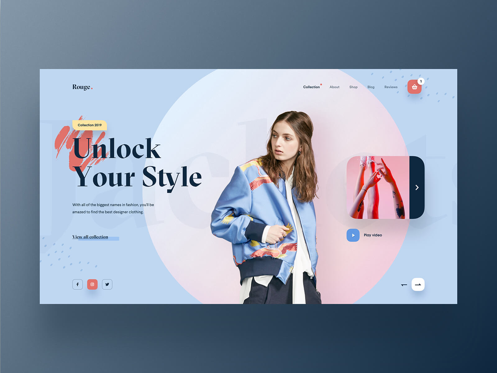 Online store website with a promotion slider on their homepage