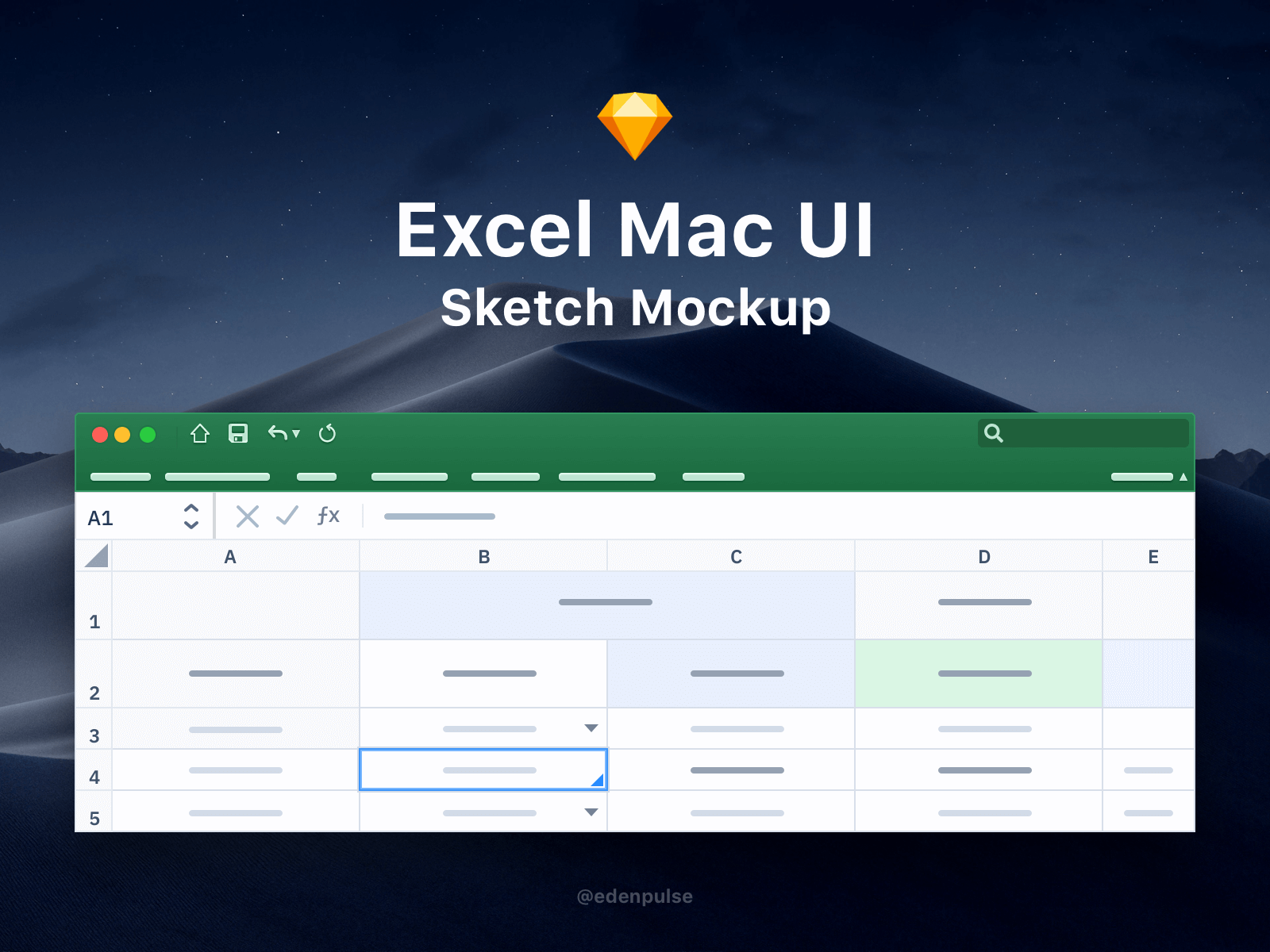 Simple MacOS Excel UI screen