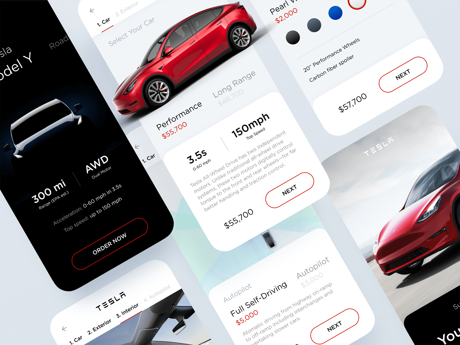 Concept interface for the Tesla Model Y
