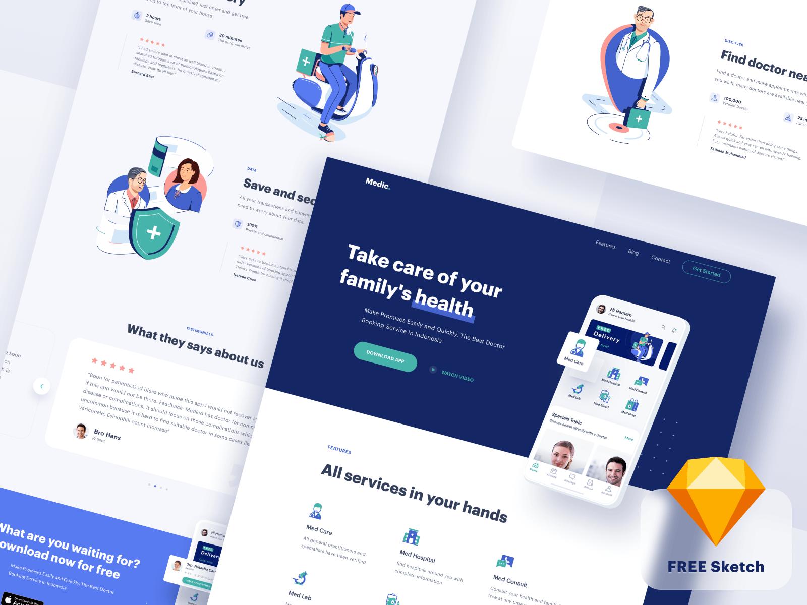 Website design for a medical app