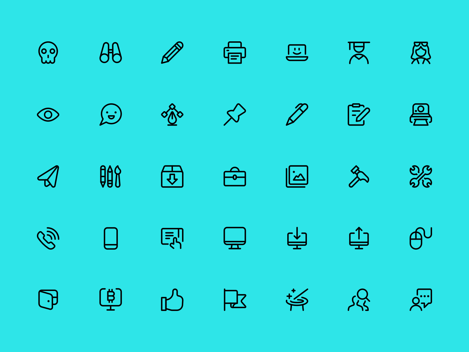 Selection of some icons from the Streamline 3.0 Icon Pack