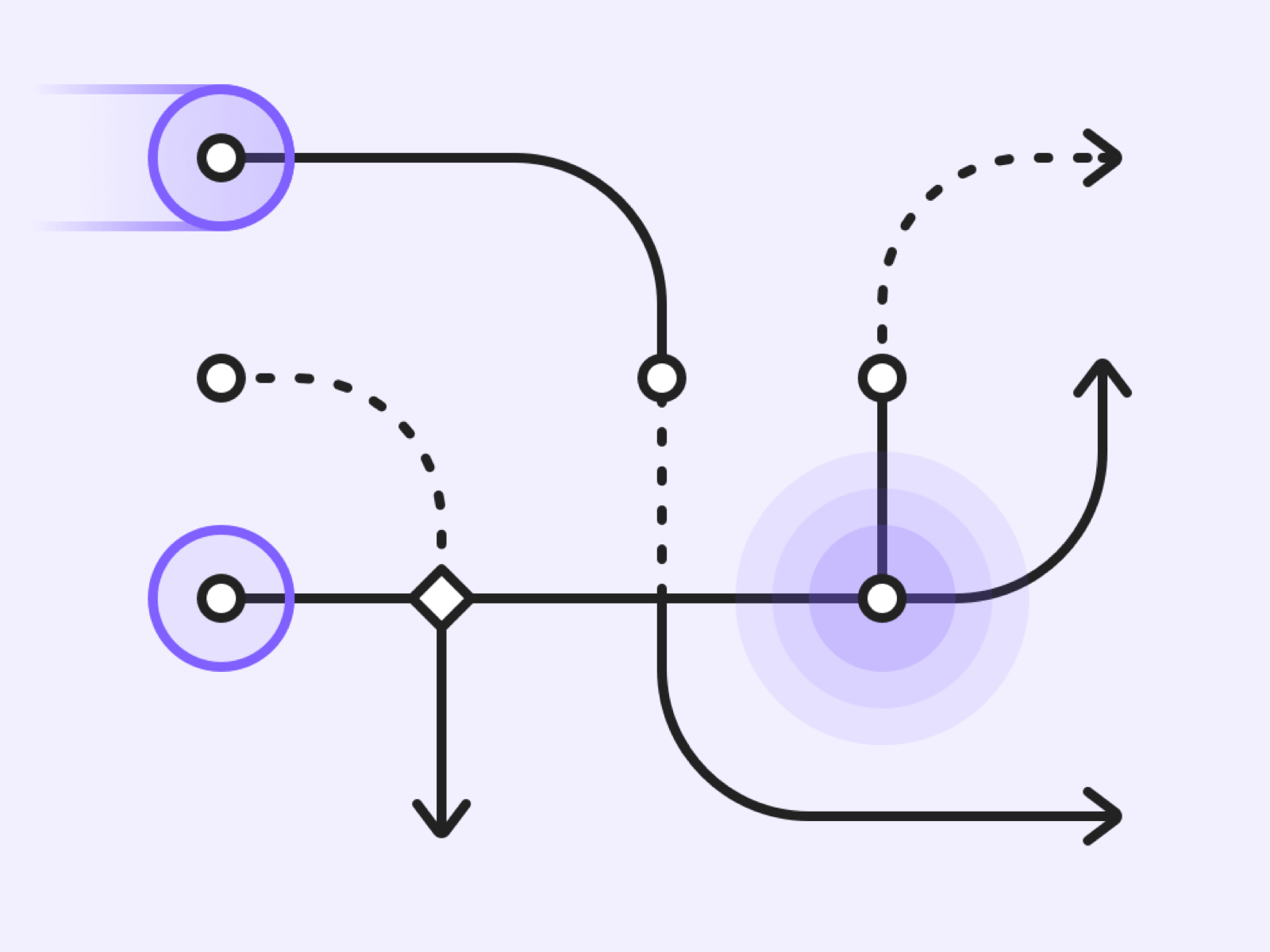 Example of some arrows from the Flowkit product
