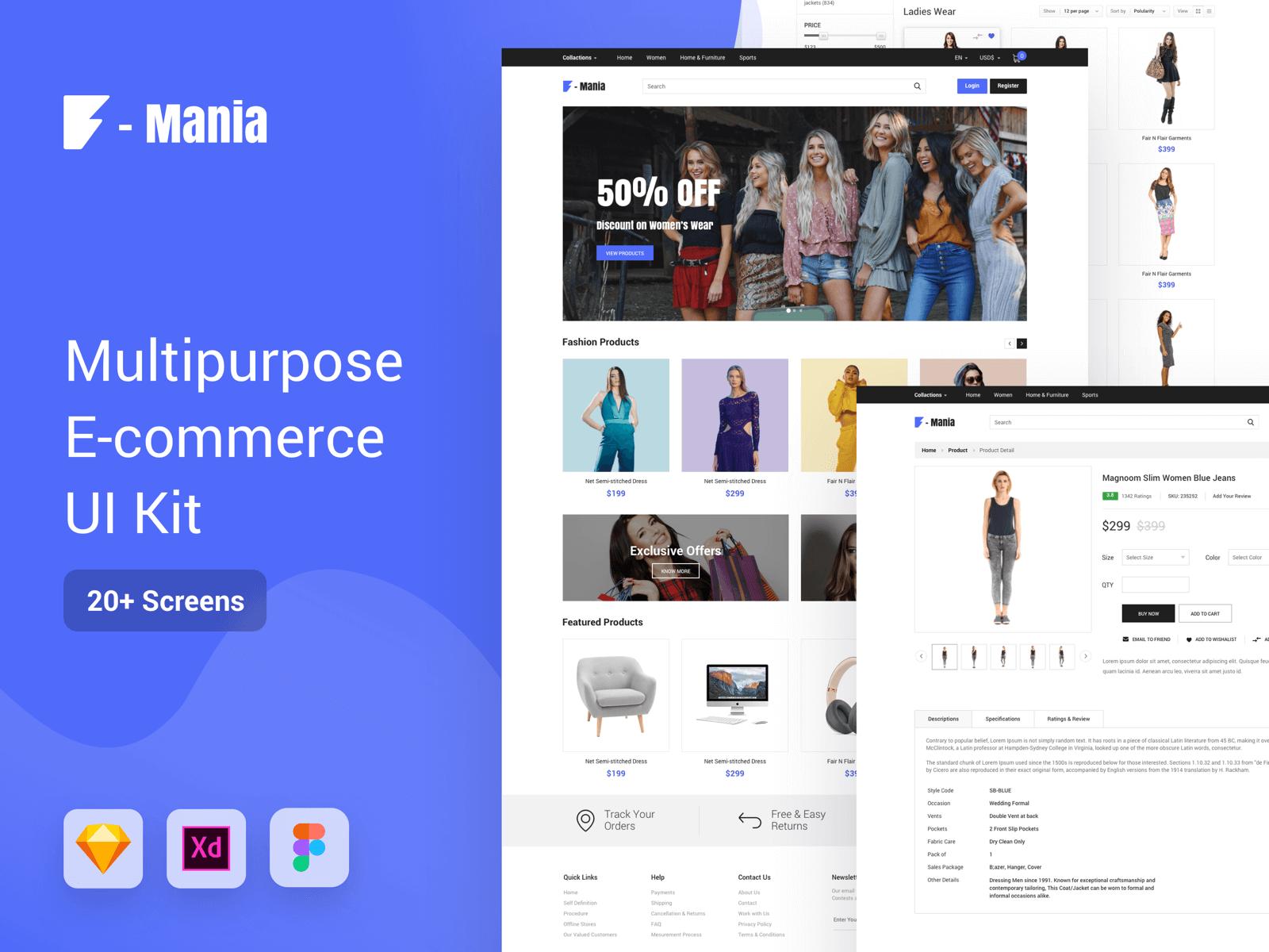 Multipurpose E-Commerce UI Kit