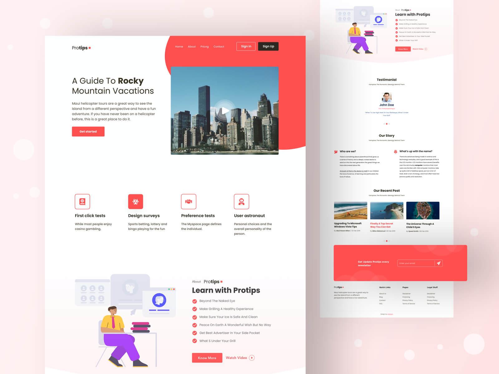 Protips Landing Page