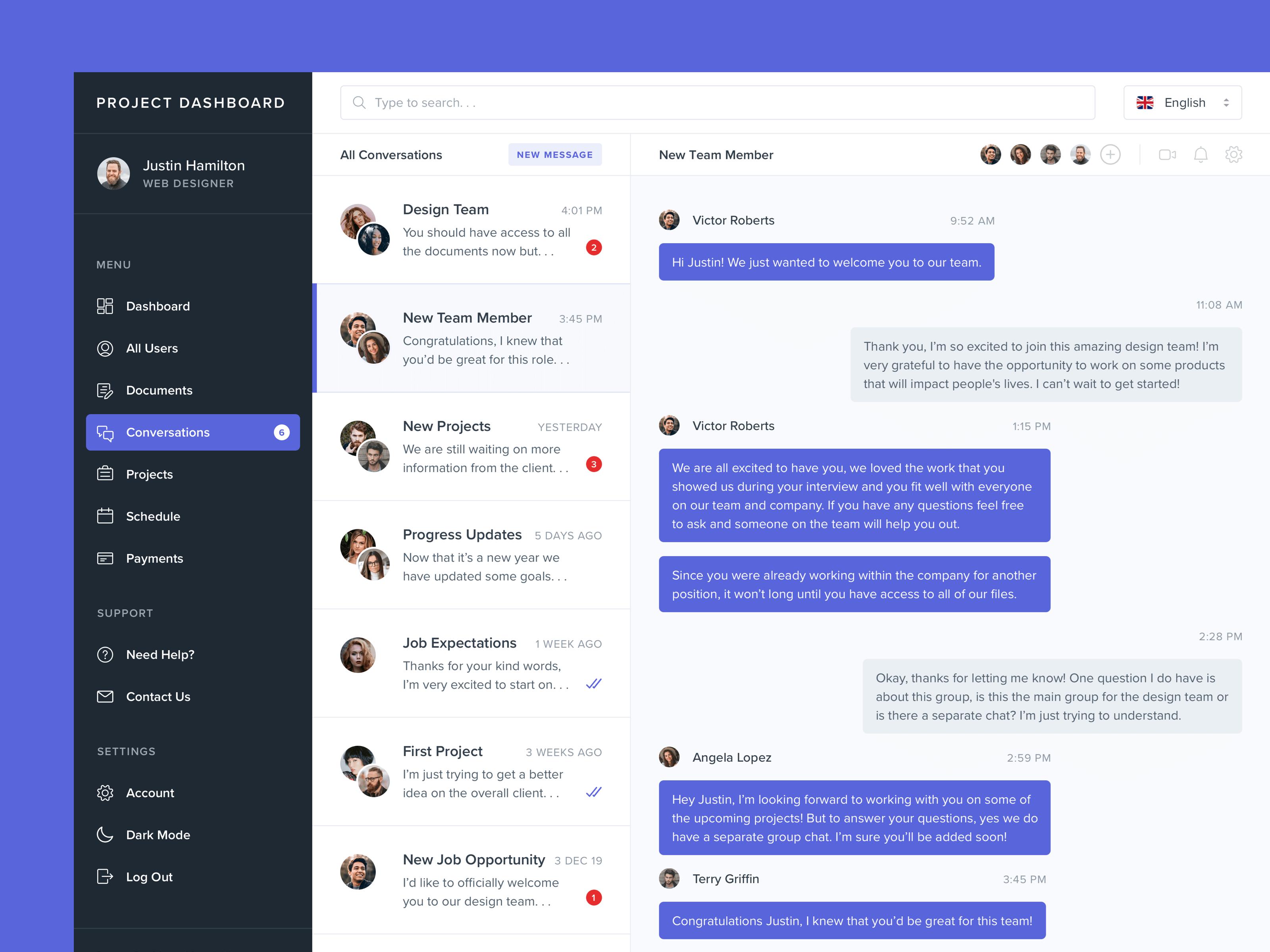 Direct Message Dashboard