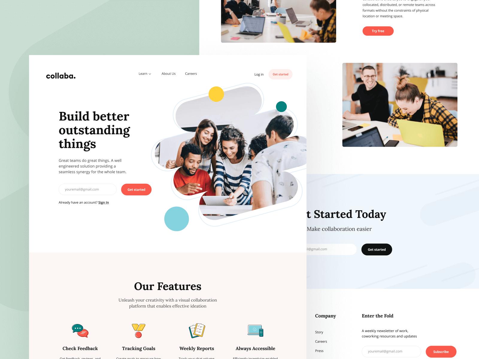 Collaba: Landing Page