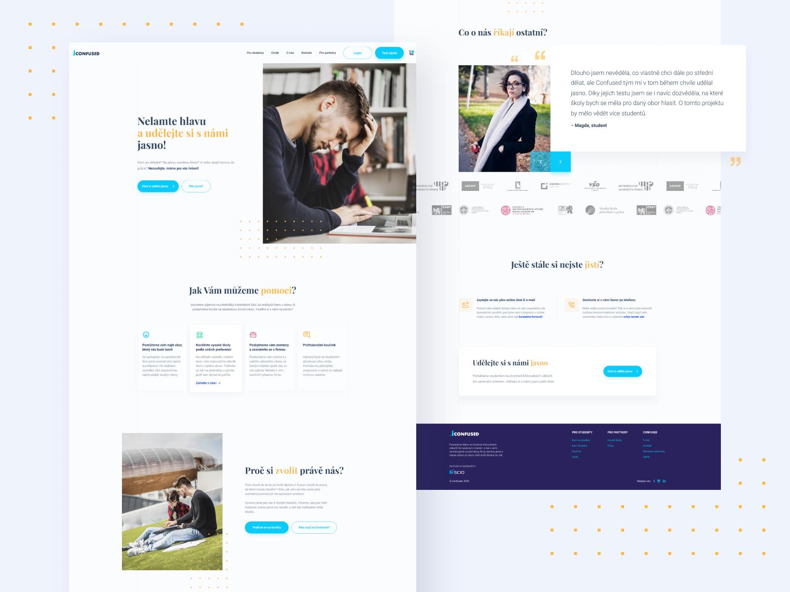 Website design for Confused 2.0
