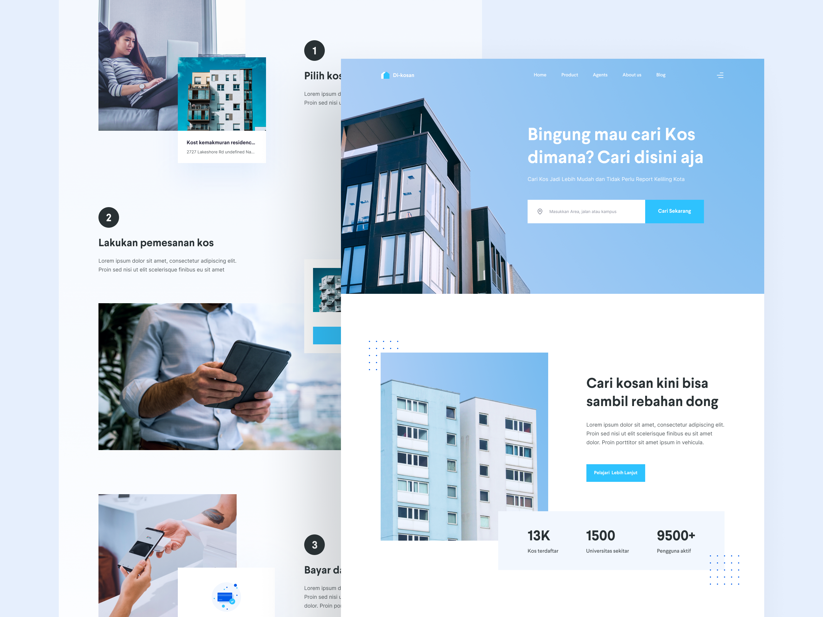 Website design for a boarding house