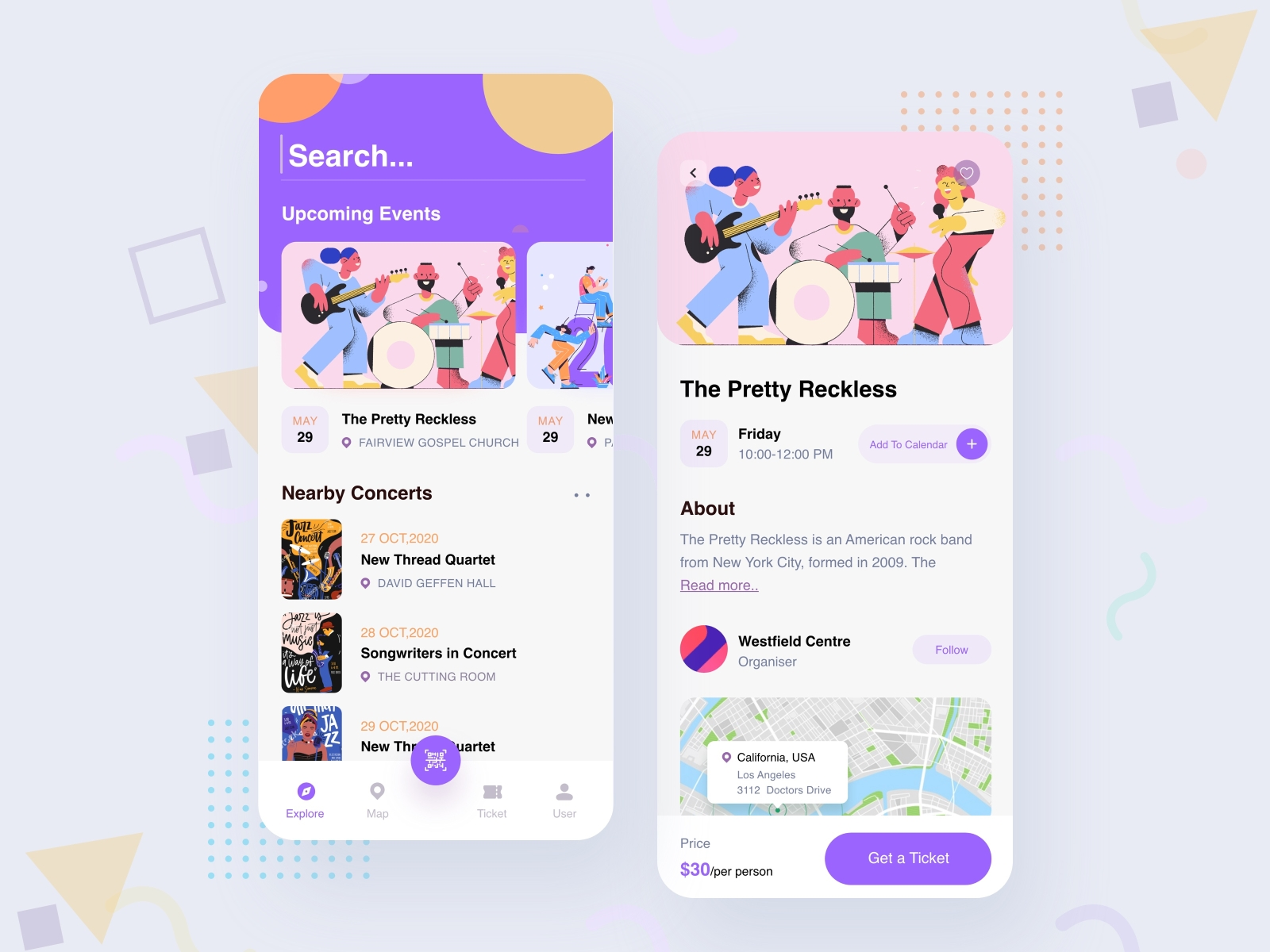 Design for an events app