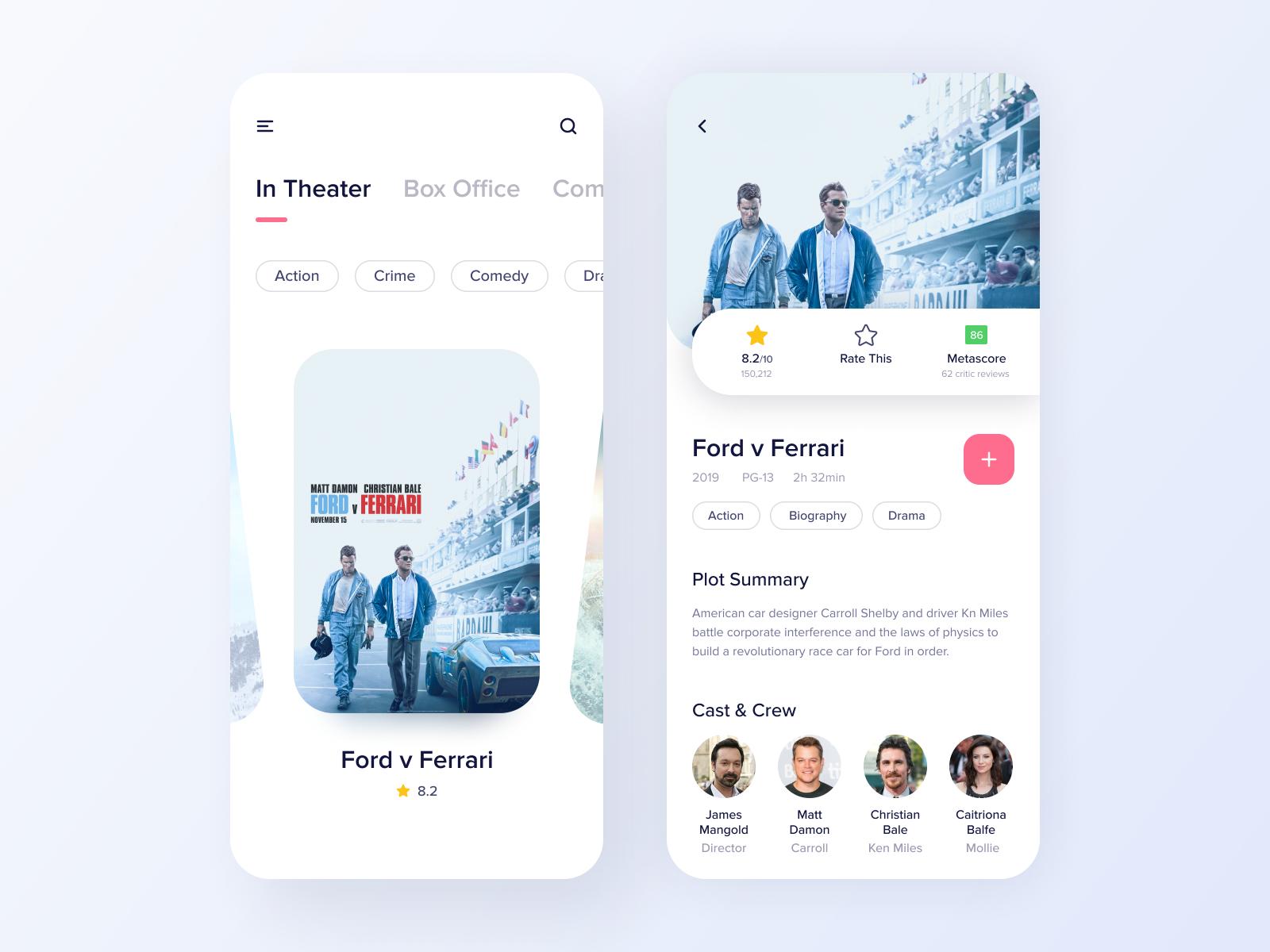Design for a movie app