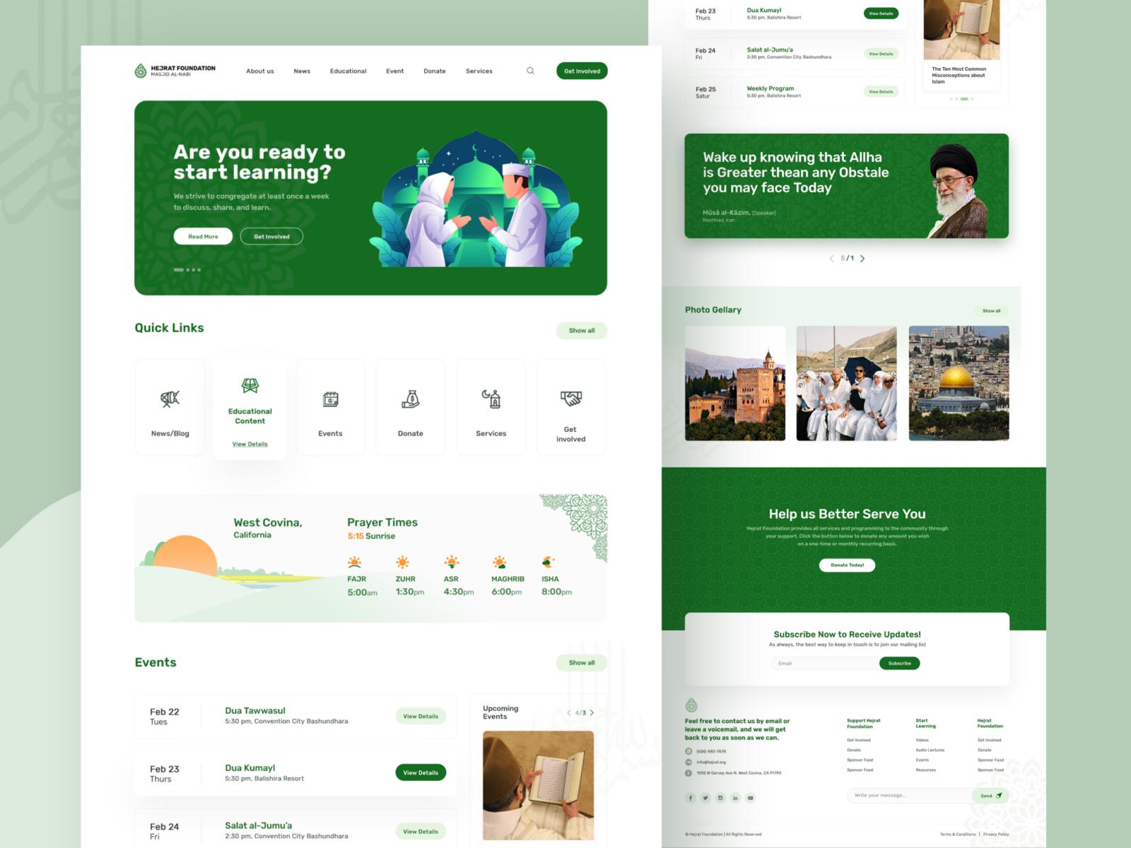 Hejrat Foundation website