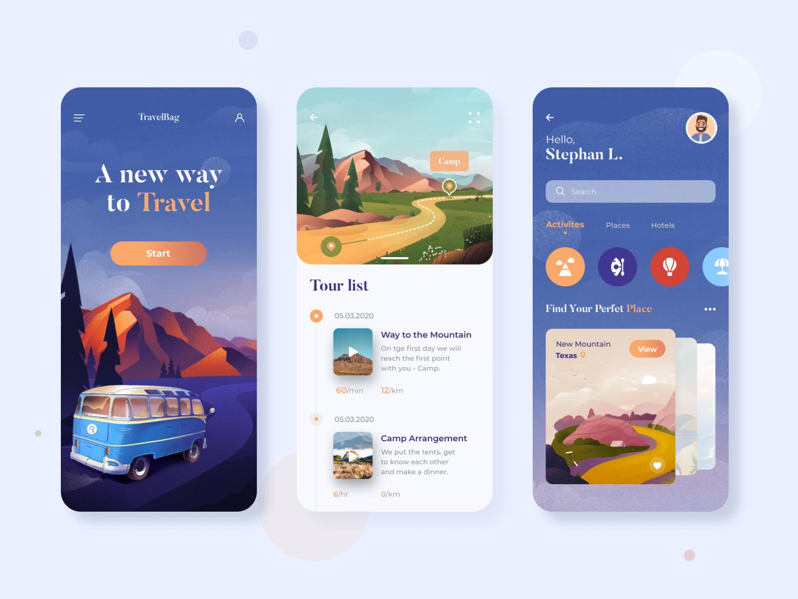 Design for a Travel App