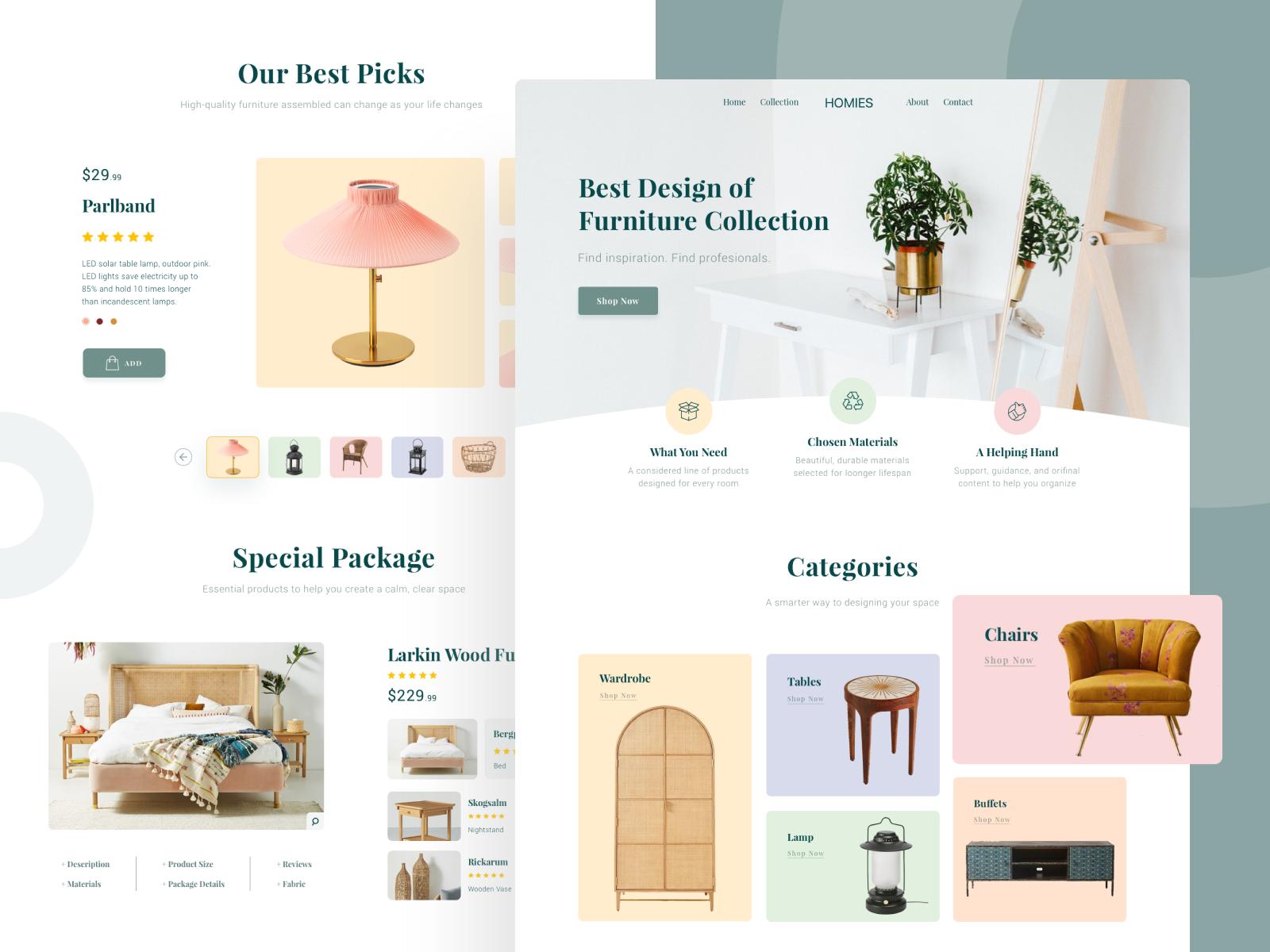 Website design for Homies Furniture
