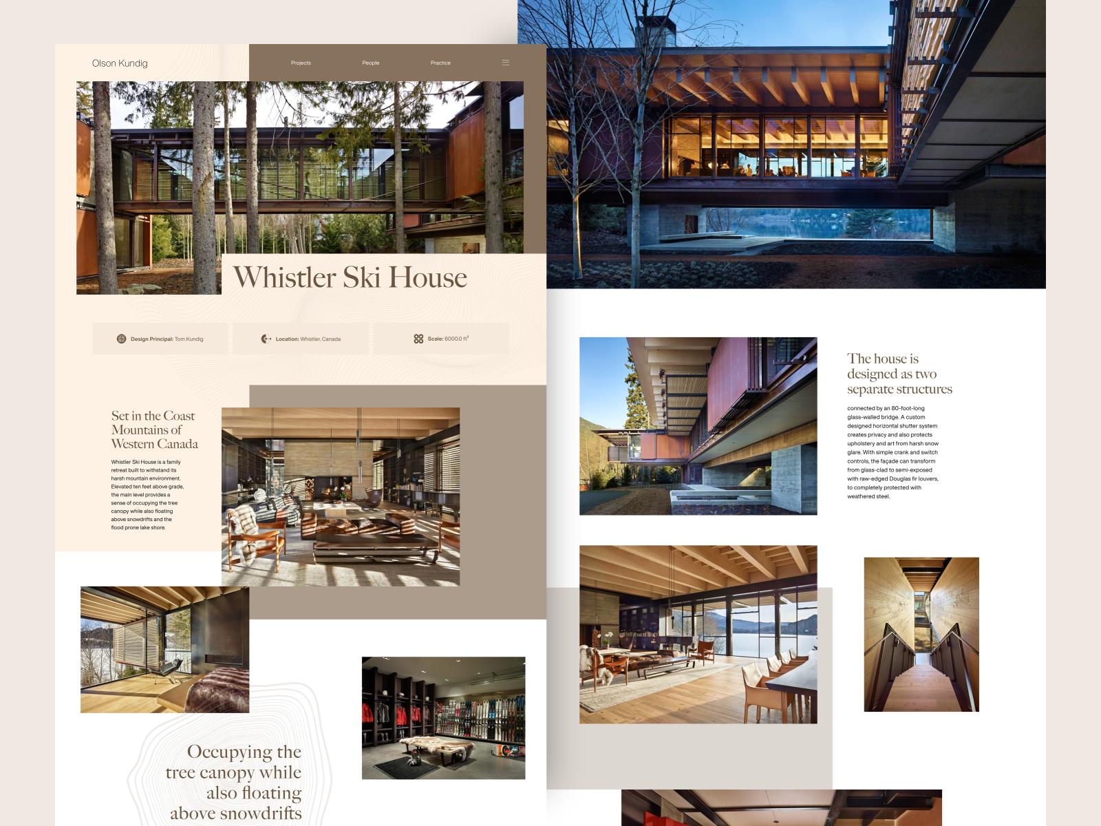 Website design for Whistler Ski House