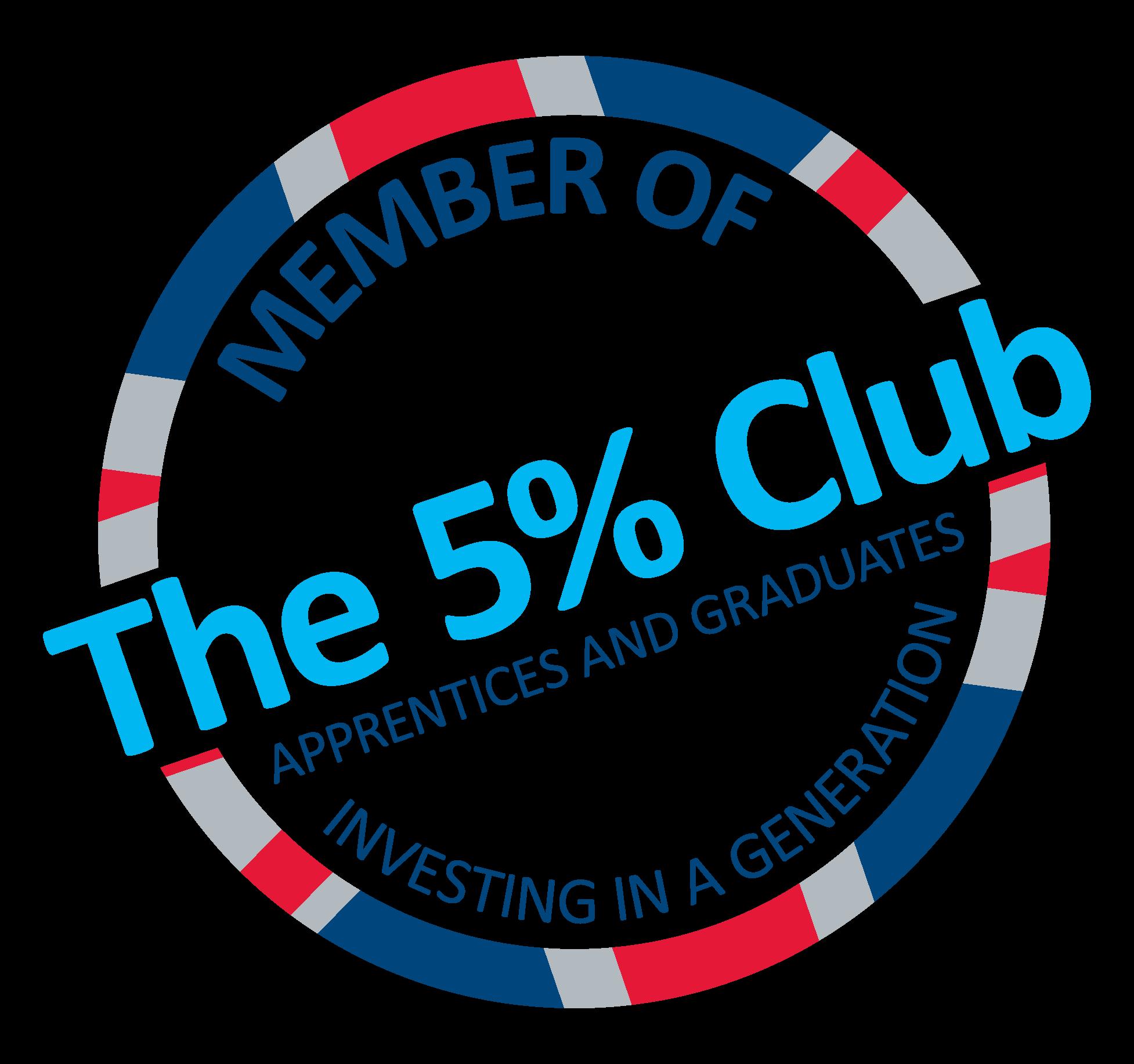 5% club logo