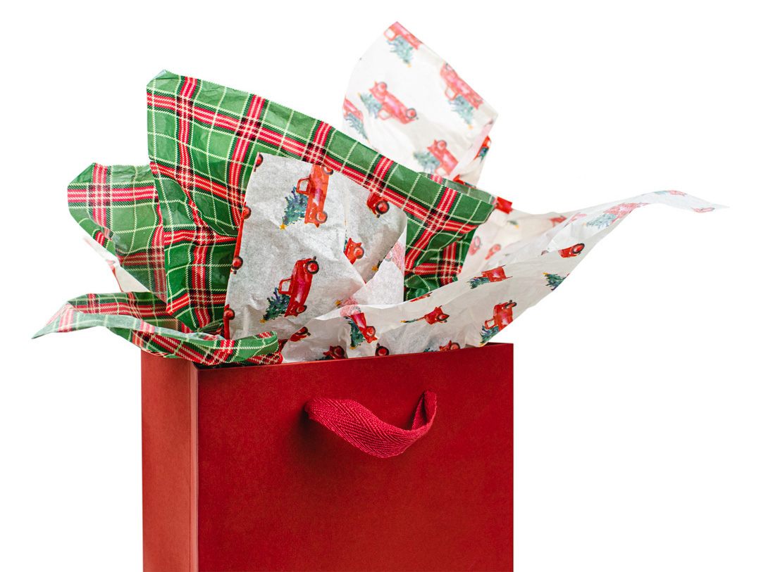 Holiday tissue paper