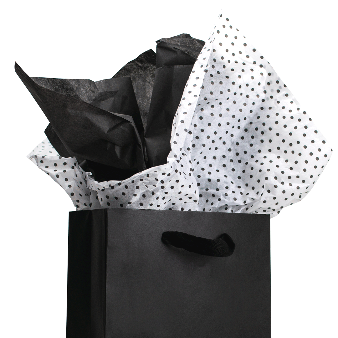 Gift bag with tissue paper
