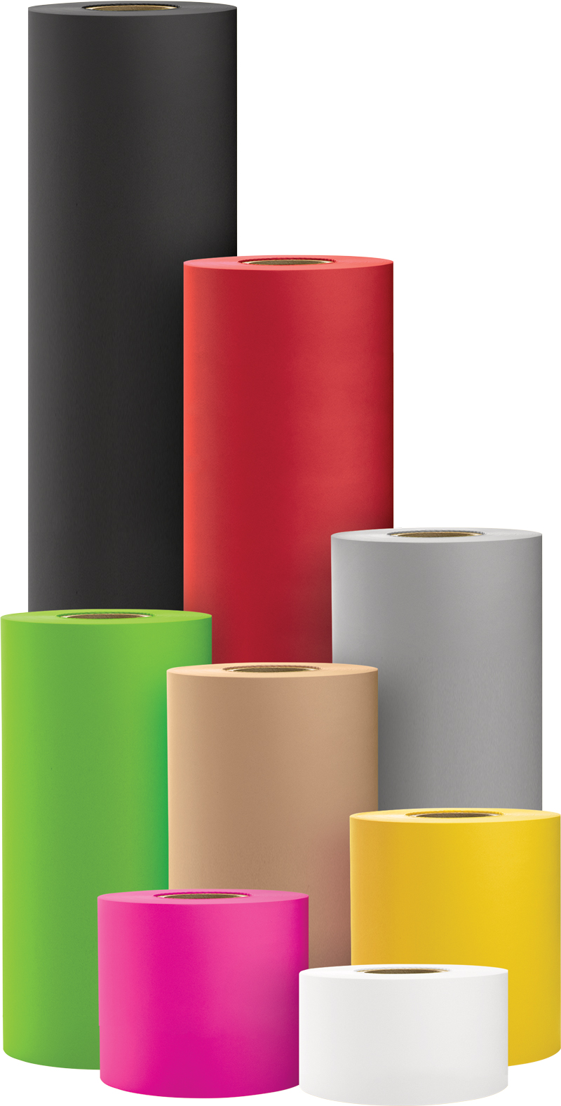 Various colored SatinPack counter rolls