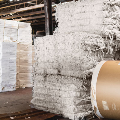 A bail of recycled paper