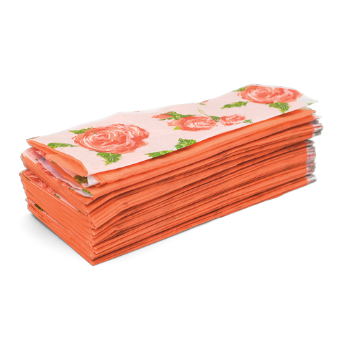 Cottage rose and coral solid color fan fold