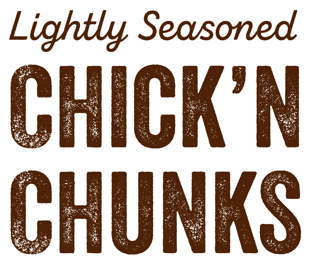 Lightly seasoned chick'n chunks