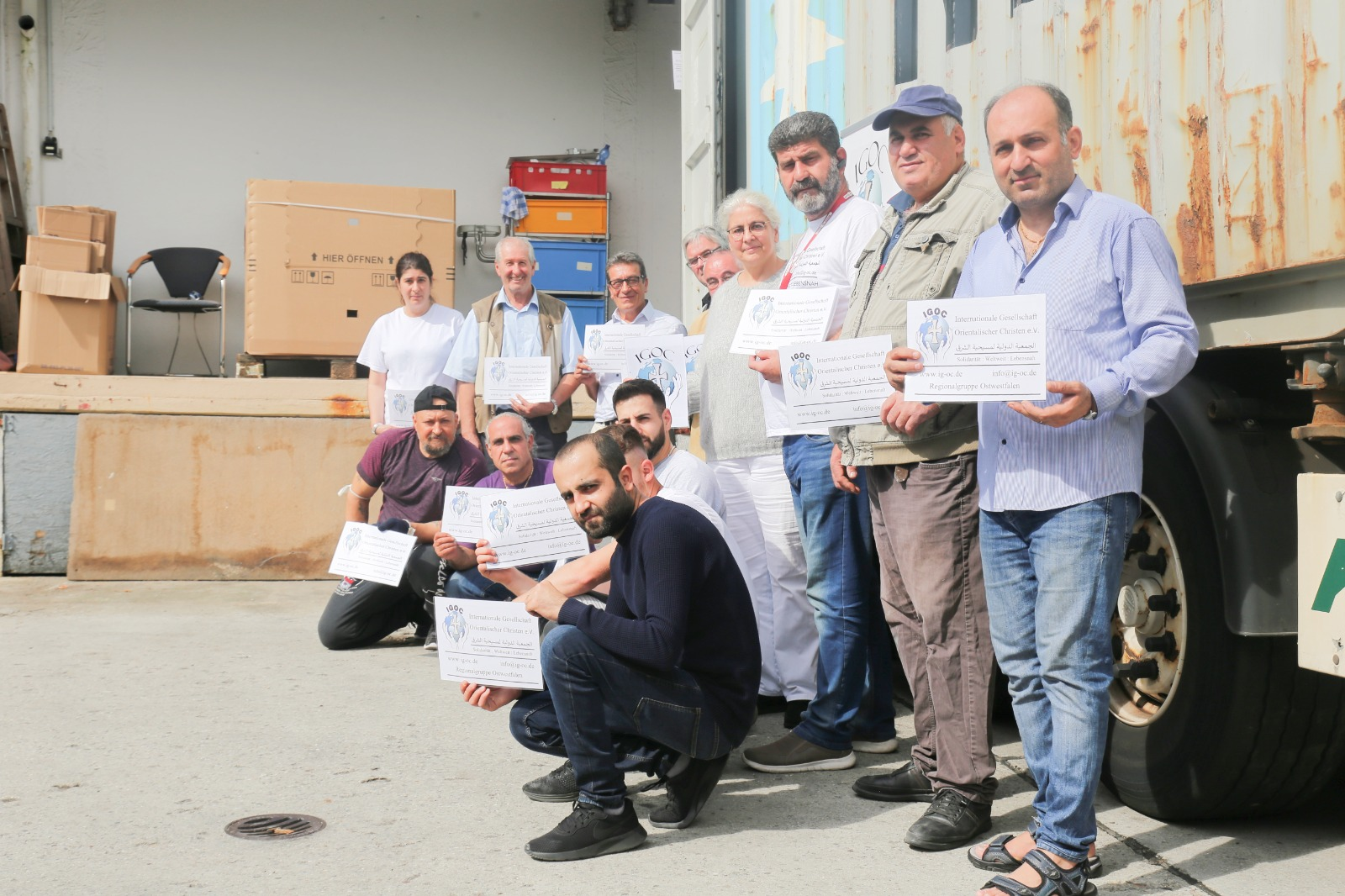 IGOC bringt Hilfstransport auf den Weg