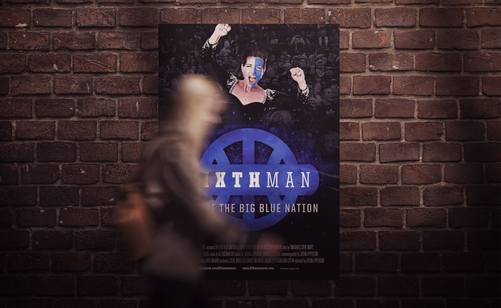 Sports design of The Sixth Man documentary Miss Kentucky film poster
