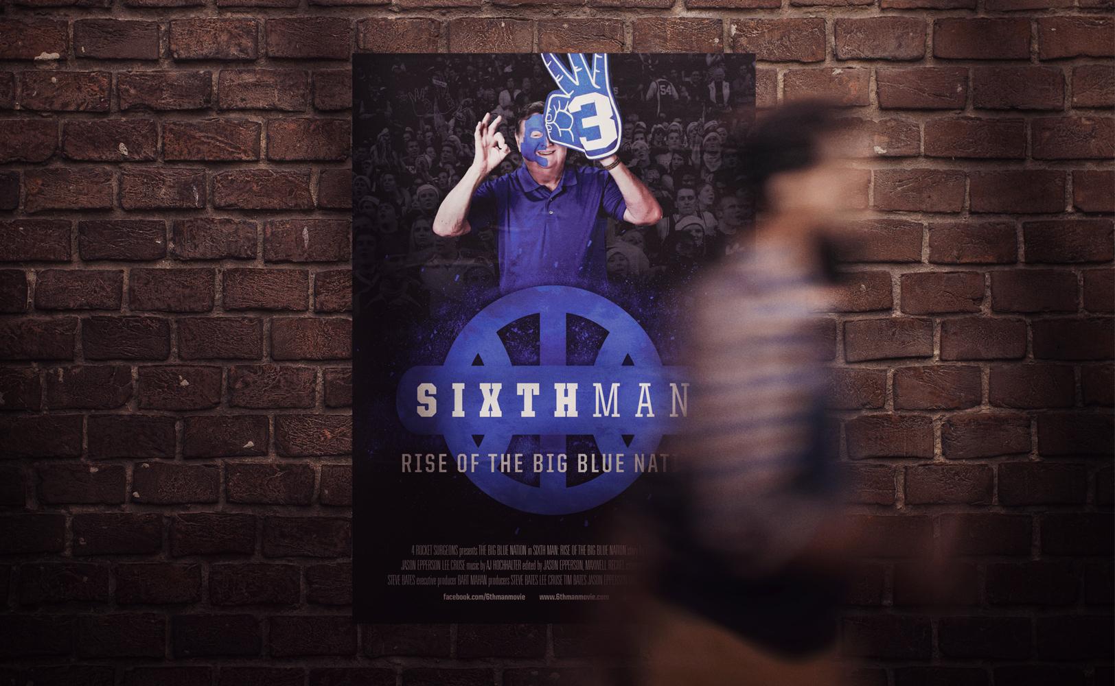 Sports design of The Sixth Man documentary Joe B. Hall film poster